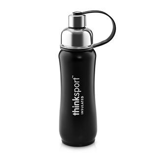 Think, Thinksport,绝缘运动瓶,黑色,17 oz(500 ml)