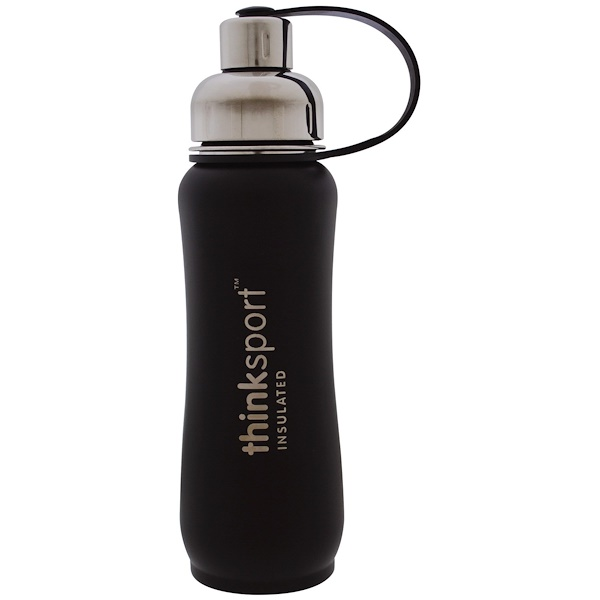 Thinksport, Insulated Sports Bottle, Black, 17 oz (500 ml)