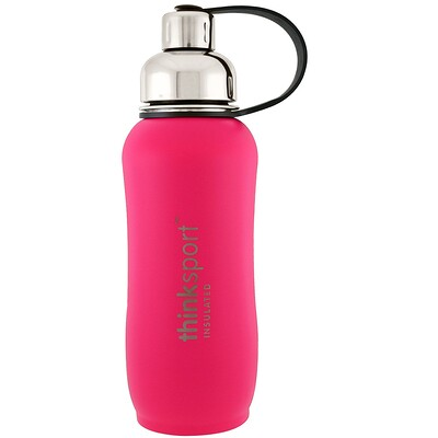 Thinksport , Insulated Sports Bottle, Dark Pink, 25 oz (750ml)