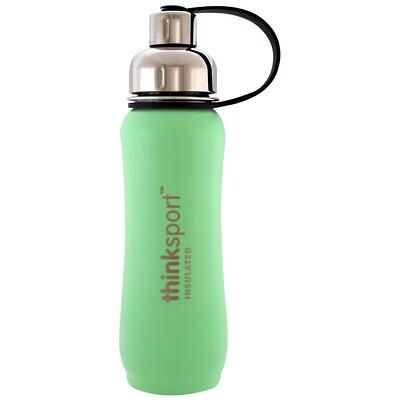 Купить Thinksport, изолированная бутылка для спорта, мятный зеленый, 17 унций (500 мл)