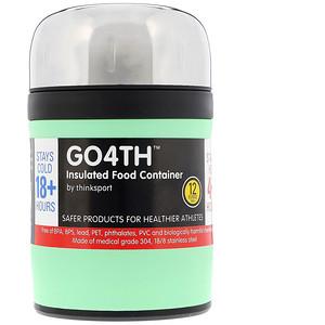 Синк, Thinksport, GO4TH, Insulated Food Container, Mint Green, 12 oz (350 ml) отзывы