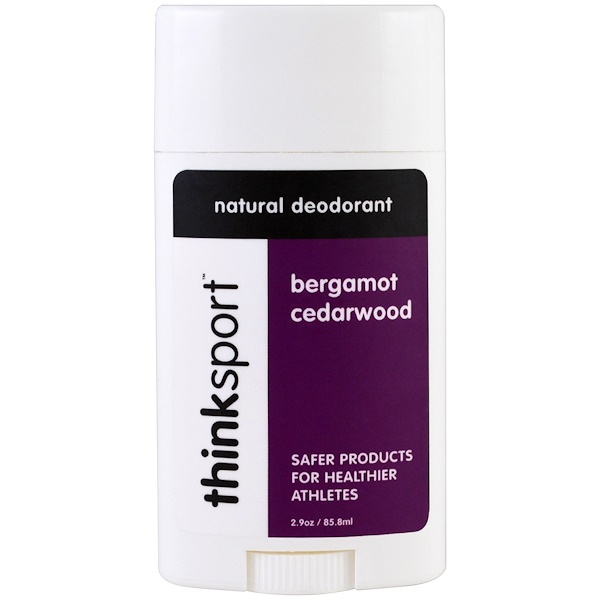 Think, Thinksport, Natural Deodorant, Bergamot Cedarwood, 2.9 oz (85.8 ml) (Discontinued Item)