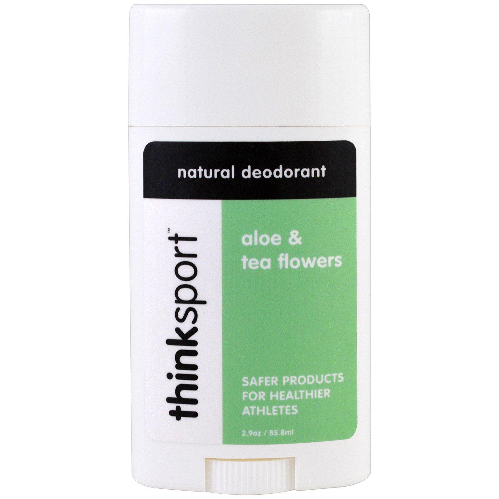 Think, Thinksport, натуральный дезодорант, алоэ и цветок чая, 2,9 унц. (85,8 мл)