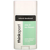 Think, Thinksport, desodorante natural, aloe y flores de té, 2,9 oz (85,8 ml)