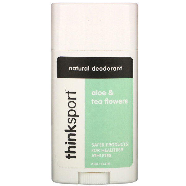 Think, Thinksport, desodorante natural, aloe y flores de té, 2,9 oz (85,8 ml) (Discontinued Item)