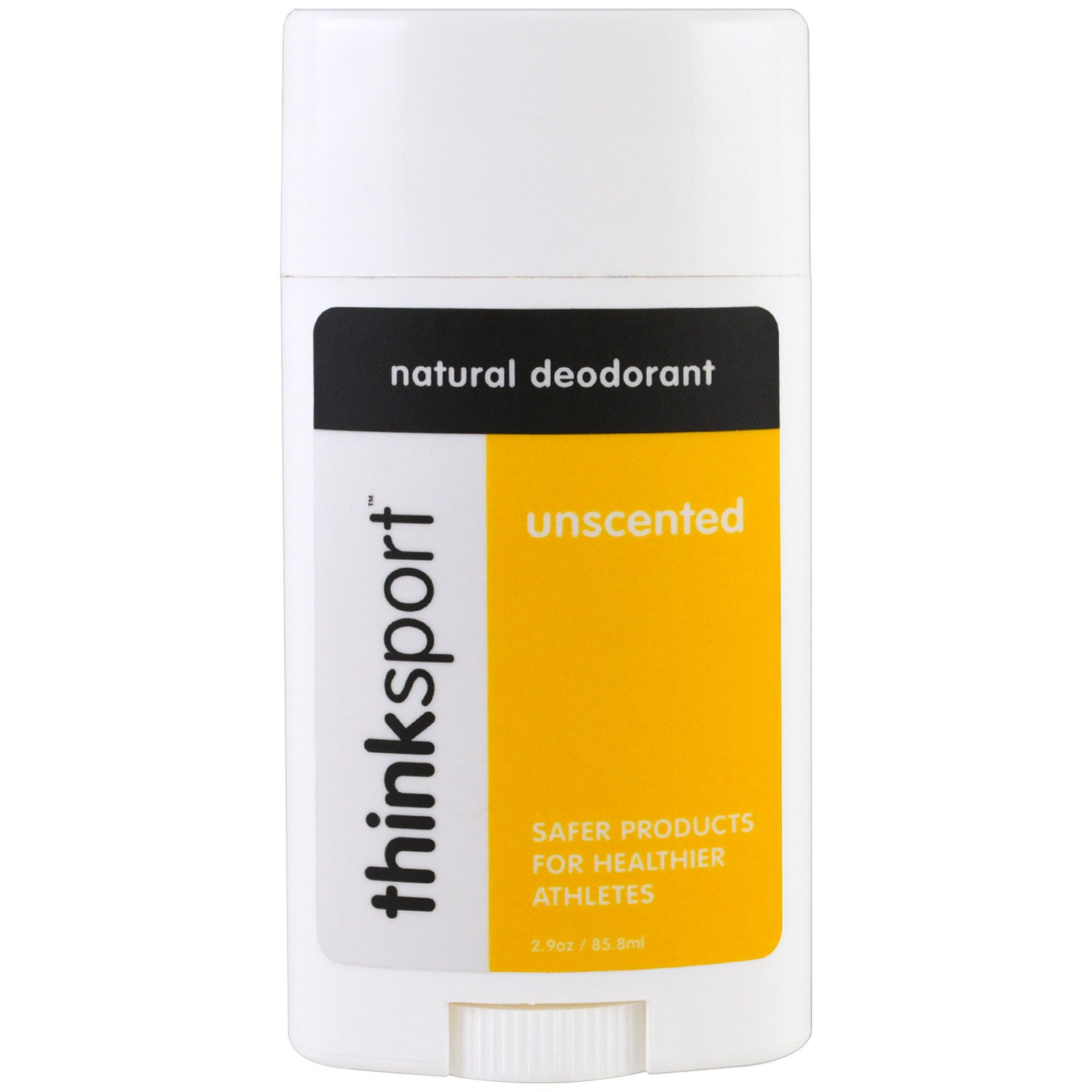 Think, Thinksport, натуральный дезодорант, без запаха, 2,9 унции (85,8 мл)