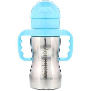 Синк, Thinkbaby, Thinkster of Steel Bottle, Blue, 1 Straw Bottle, 9 oz (260 ml) отзывы