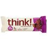 Think !, High Protein Bars, Chocolate Fudge, 10 Bars, 2.1 oz (60 g) Each