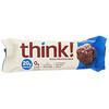 Think !, ألواح عالية البروتين، Brownie Crunch، 10 قطع، 2.1 أوقية (60 جم) لكل قطعة