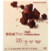 ThinkThin, ハイプロテインバー、ブラウニークランチ、10個、各21 oz (60 g)