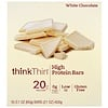 ThinkThin, High Protein Bar, White Chocolate, 10 Bars, 2.1 oz (60 g) Each