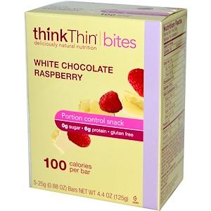 ТинкТин, thinkThin Bites, White Chocolate Raspberry, 5 Bars, 0.88 oz (25 g) Each отзывы