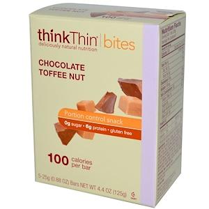 ТинкТин, Thin Bites, Chocolate Toffee Nut, 5 Bars, .88 oz (25 g) Each отзывы