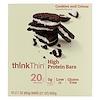 ThinkThin, 高プロテインバー、クッキー&クリーム、10本、各2.1 oz (60 g)