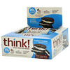 Think !, High Protein Bars, Cookies and Cream, 10 Bars, 2.1 oz (60 g) Each