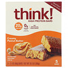 ThinkThin, High Protein Bars, Creamy Peanut Butter, 5 Bars, 2.1 oz (60 g) Each