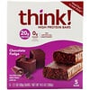 ThinkThin, High Protein Bars, Chocolate Fudge, 5 Bars, 2.1 oz (60 g) Each