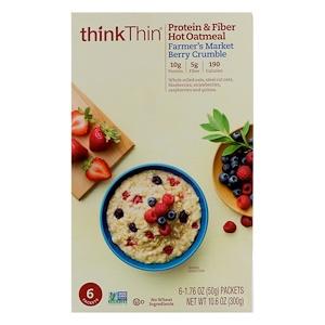 ТинкТин, Protein & Fiber Hot Oatmeal, Farmer's Market Berry Crumble, 6 Packets, 1.76 oz (50g ) Each отзывы