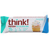 Think !, Barras de 150calorías Protein+, Sabor masa de cupcake, 10 barras, 1,41oz (40g) cada una