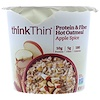 ThinkThin, Protein & Fiber Hot Oatmeal, Apple Spice, 1.76 oz  (50 g)