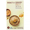 ThinkThin, Protein & Fiber Hot Oatmeal, Honey Peanut Butter, 6 Packets, 1.76 oz (50 g ) Each
