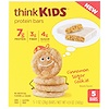 ThinkThin, ThinkKids, Protein Bars, Cinnamon Sugar Cookie, 5 Bars, 1 oz (28 g) Each