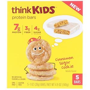 ТинкТин, ThinkKids, Protein Bars, Cinnamon Sugar Cookie, 5 Bars, 1 oz (28 g) Each отзывы покупателей
