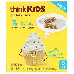 ТинкТин, ThinkKids, Protein Bars, Vanilla Cupcake, 5 Bars, 1 oz (28 g ) Each отзывы покупателей
