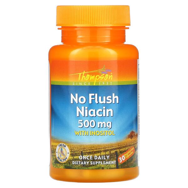 No Flush Niacin, 500 mg, 30 Vegetarian Capsules