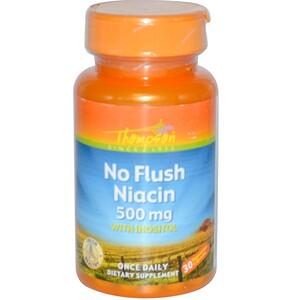 Томпсон, No Flush Niacin, 500 mg, 30 Vegetarian Capsules отзывы покупателей