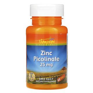 Thompson, Zinkpicolinat, 25 mg, 60 Tabletten