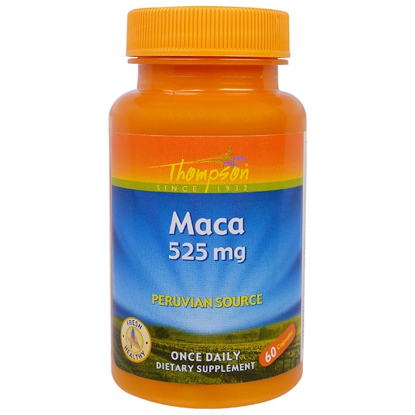 Thompson, Maca, 525 mg, 60 Capsules