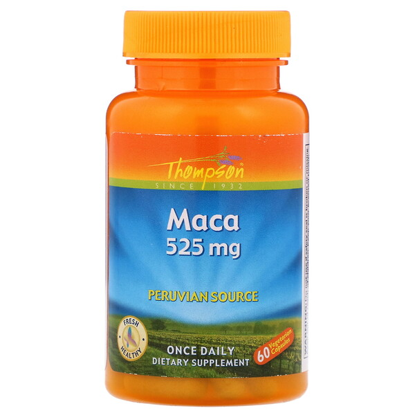 Thompson, Maca, 525 mg, 60 Vegetarian Capsules