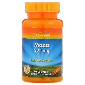 Томпсон, Maca, 525 mg, 60 Vegetarian Capsules отзывы покупателей