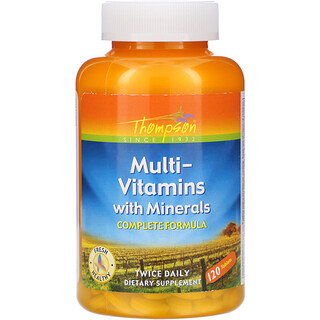 Thompson, Multi-Vitamins with Minerals, 120 Tablets