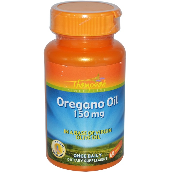 Thompson, Oregano Oil, 150 mg, 60 Softgels