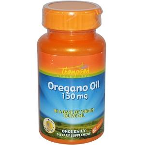 Томпсон, Oregano Oil, 150 mg, 60 Softgels отзывы покупателей