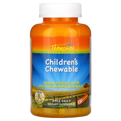 Thompson Children's Chewable, Yummy Punch Flavor, 120 Chewables