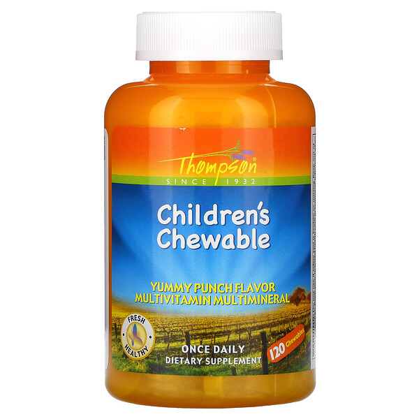 Thompson, Children's Chewable, Yummy Punch, 120 Chewables