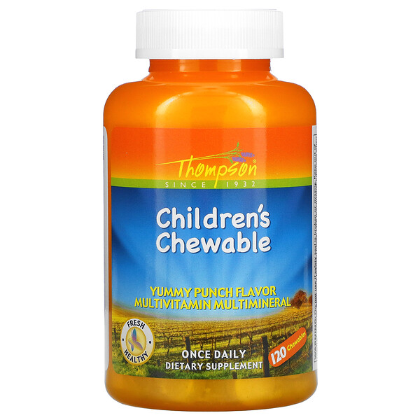 Children's Chewable, Yummy Punch, 120 Chewables