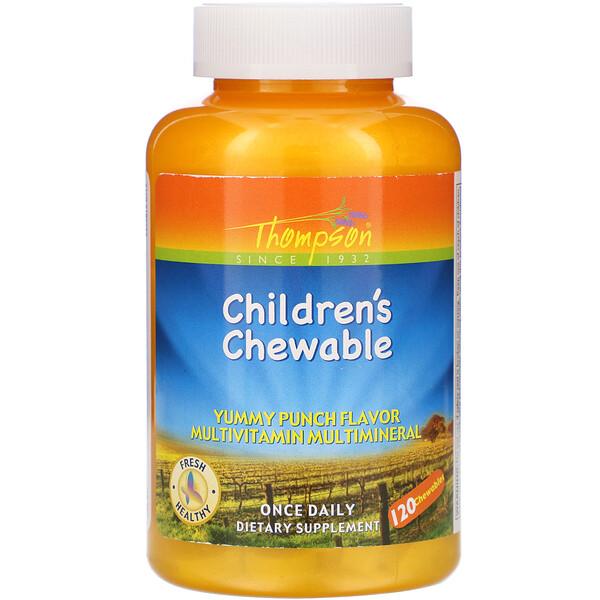 Children's Chewable, Yummy Punch Flavor, 120 Chewables