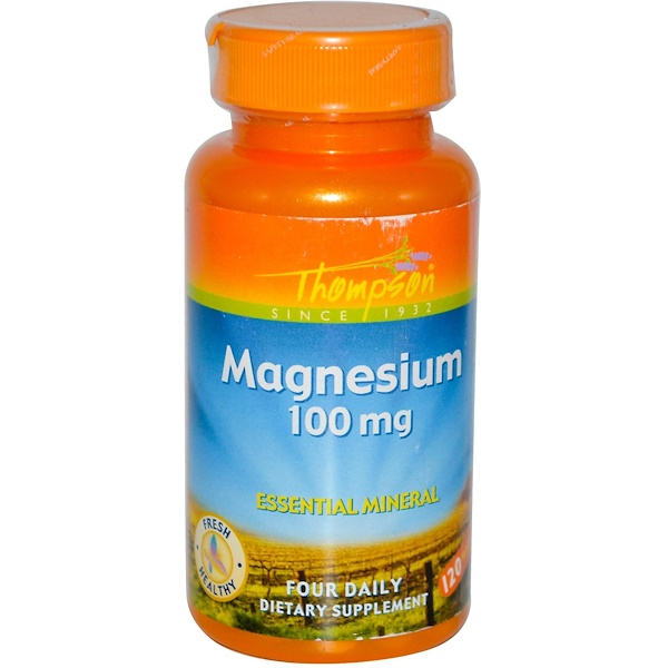 Thompson, Magnesium, 100 mg, 120 Tablets