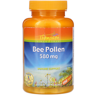Thompson, Bee Pollen, 580 mg, 100 Capsules