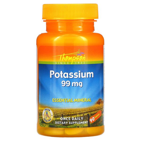 Thompson, Potassium, 99 mg, 90 Tablets