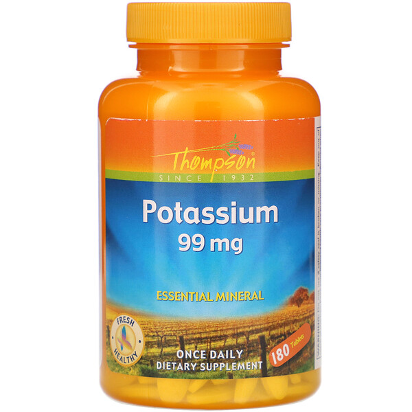 Thompson, Potassium, 99 mg , 180 Tablets