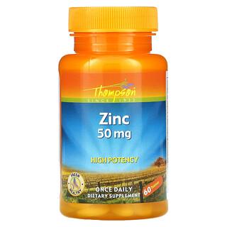 Thompson, Zink, 50 mg, 60 Tabletten