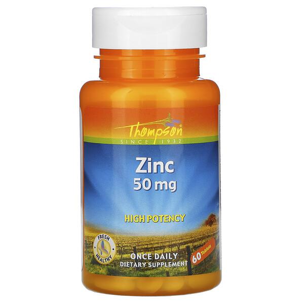 Zinc, 50 mg, 60 Tablets