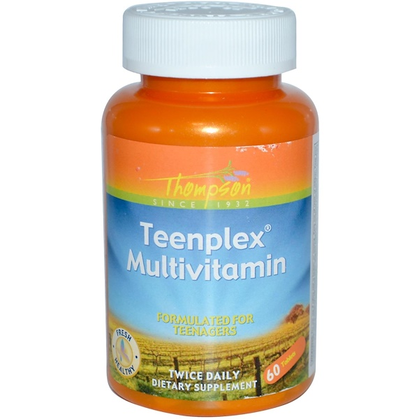 Thompson, Teenplex Multivitamin, 60 Tablets