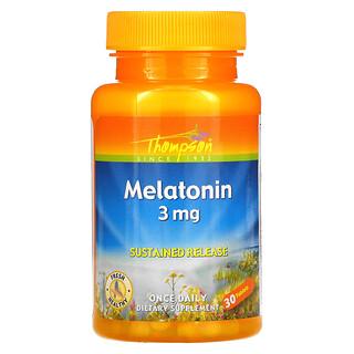 Thompson, Melatonin, 3 mg, 30 Tablets