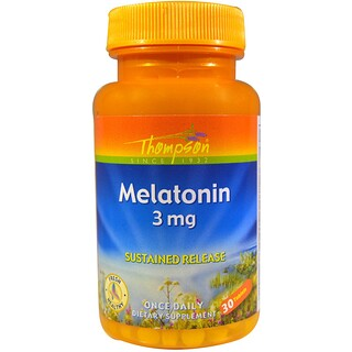 Thompson, Melatonin, 3 mg, 30 Tablets